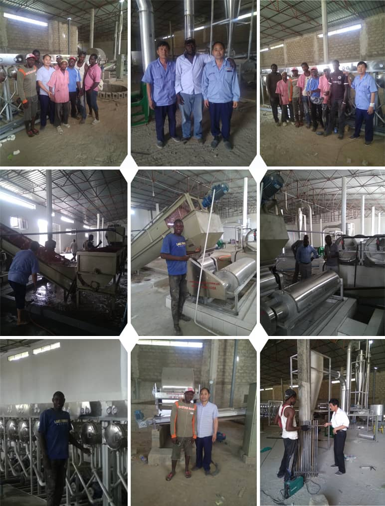 Gambia 30Tons per day Input Tapioca Starch Processing Plant