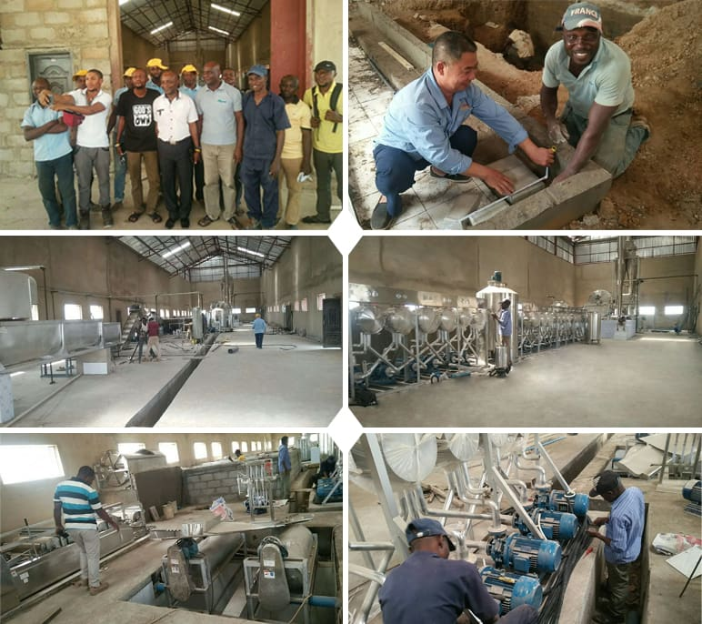 Nigeria 200Tons day Input Cassava Starch Processing Plant